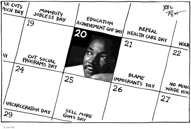 Cartoonist Joel Pett  Joel Pett's Editorial Cartoons 2016-01-19 minority