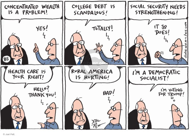Cartoonist Joel Pett  Joel Pett's Editorial Cartoons 2016-01-17 Trump opposition