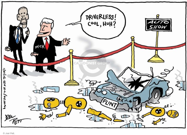 Cartoonist Joel Pett  Joel Pett's Editorial Cartoons 2016-01-21 accident
