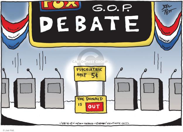 Joel Pett  Joel Pett's Editorial Cartoons 2016-01-28 2016 Republican Debate