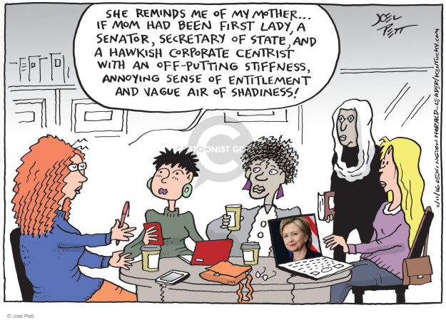 Cartoonist Joel Pett  Joel Pett's Editorial Cartoons 2016-02-11 women candidates