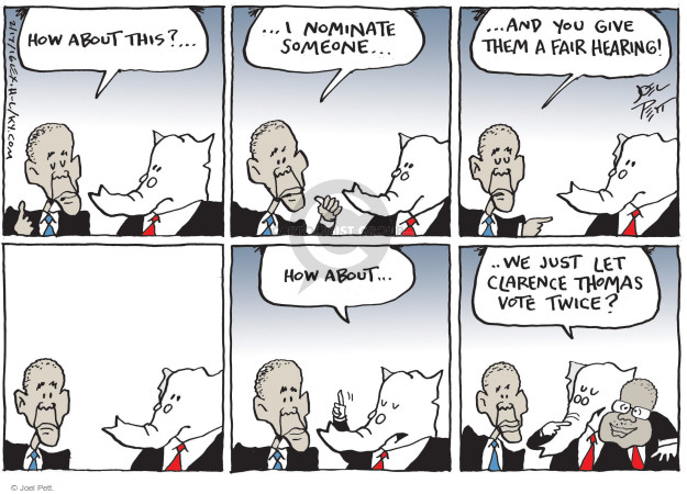 Cartoonist Joel Pett  Joel Pett's Editorial Cartoons 2016-02-17 Republican opposition