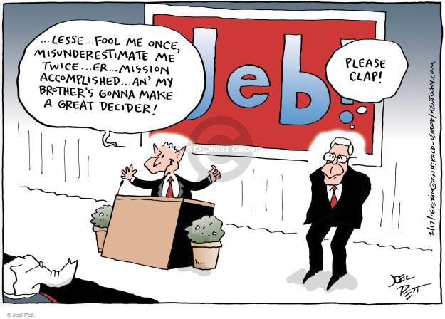 Cartoonist Joel Pett  Joel Pett's Editorial Cartoons 2016-02-18 decision