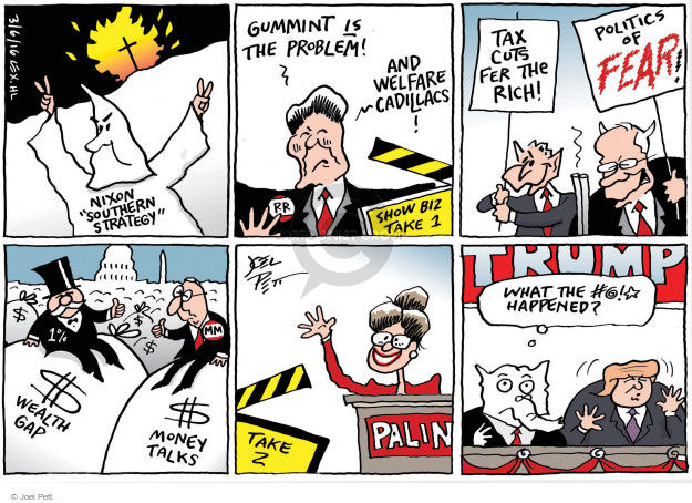 Joel Pett  Joel Pett's Editorial Cartoons 2016-03-06 Donald Trump Sarah Palin