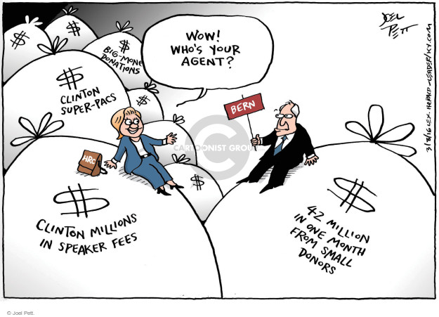 Cartoonist Joel Pett  Joel Pett's Editorial Cartoons 2016-03-08 donation