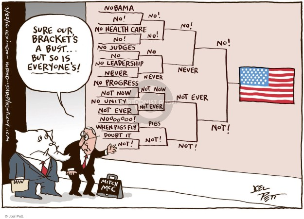 Cartoonist Joel Pett  Joel Pett's Editorial Cartoons 2016-03-21 Republican opposition