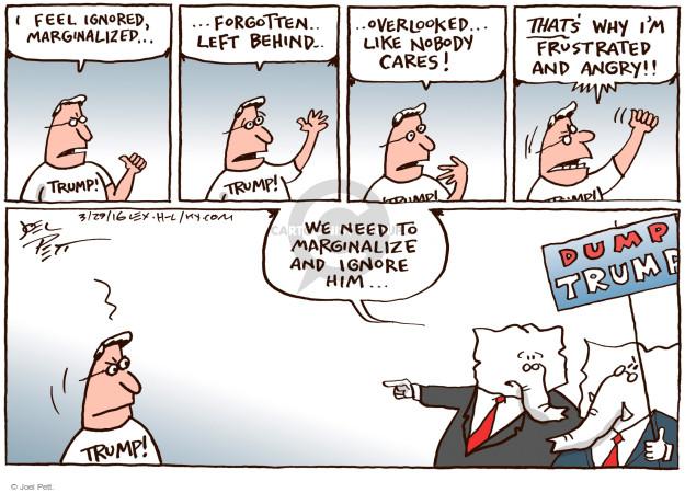 Joel Pett  Joel Pett's Editorial Cartoons 2016-03-29 voter anger
