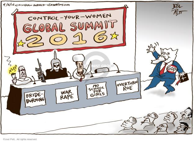 Cartoonist Joel Pett  Joel Pett's Editorial Cartoons 2016-04-06 women candidates
