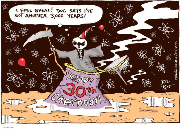Cartoonist Joel Pett  Joel Pett's Editorial Cartoons 2016-04-26 nuclear power