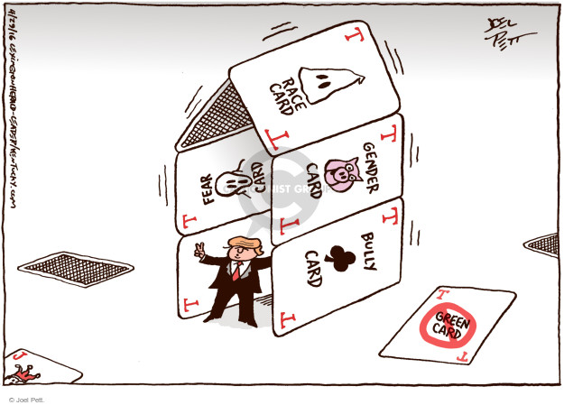 Cartoonist Joel Pett  Joel Pett's Editorial Cartoons 2016-04-29 campaign strategy