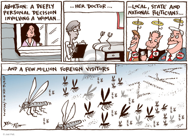 Cartoonist Joel Pett  Joel Pett's Editorial Cartoons 2016-05-13 illness