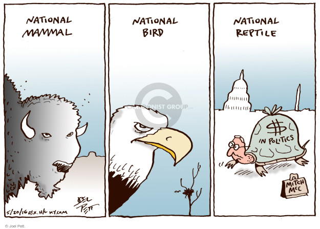 Joel Pett  Joel Pett's Editorial Cartoons 2016-05-20 Mitch McConnell