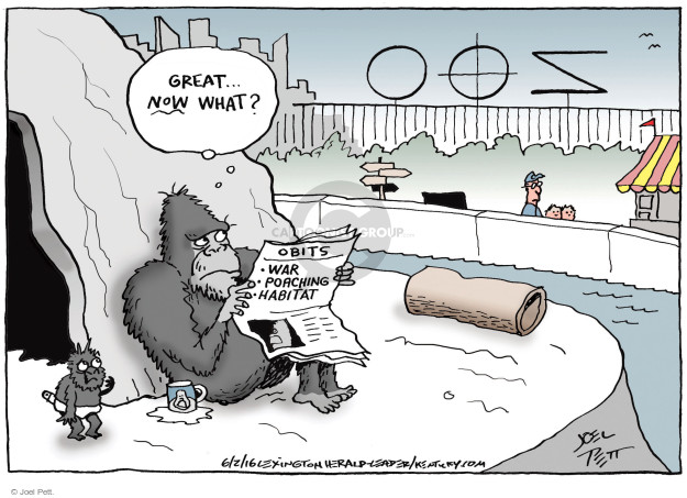 Joel Pett  Joel Pett's Editorial Cartoons 2016-06-02 war