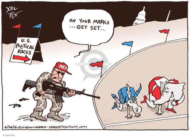Cartoonist Joel Pett  Joel Pett's Editorial Cartoons 2016-03-26 assault weapon