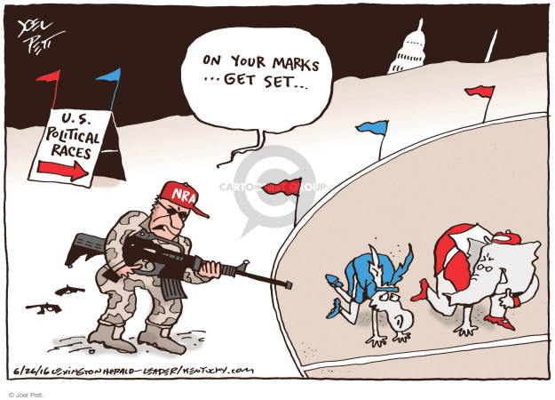 Joel Pett  Joel Pett's Editorial Cartoons 2016-03-26 assault rifle
