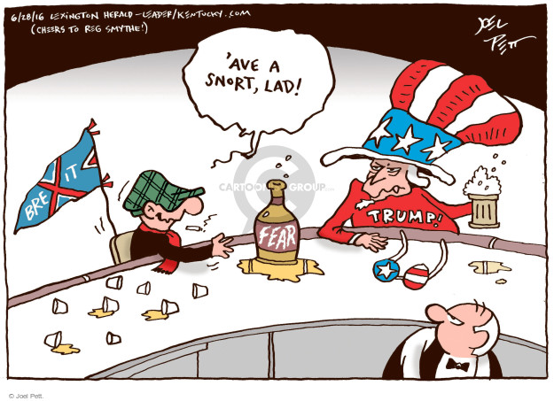 Cartoonist Joel Pett  Joel Pett's Editorial Cartoons 2016-06-28 bar