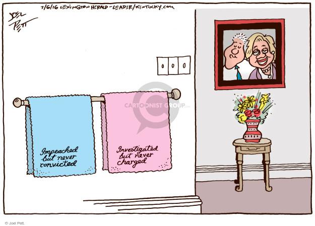 Cartoonist Joel Pett  Joel Pett's Editorial Cartoons 2016-07-06 Bill Clinton