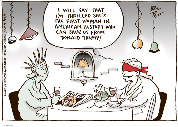Cartoonist Joel Pett  Joel Pett's Editorial Cartoons 2016-07-28 Trump opposition