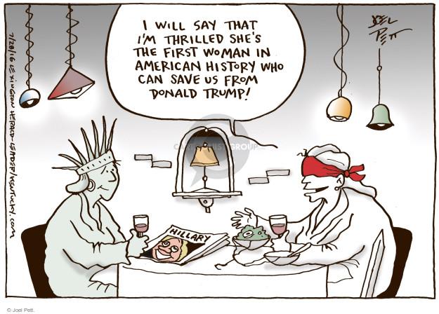 Joel Pett  Joel Pett's Editorial Cartoons 2016-07-28 American History