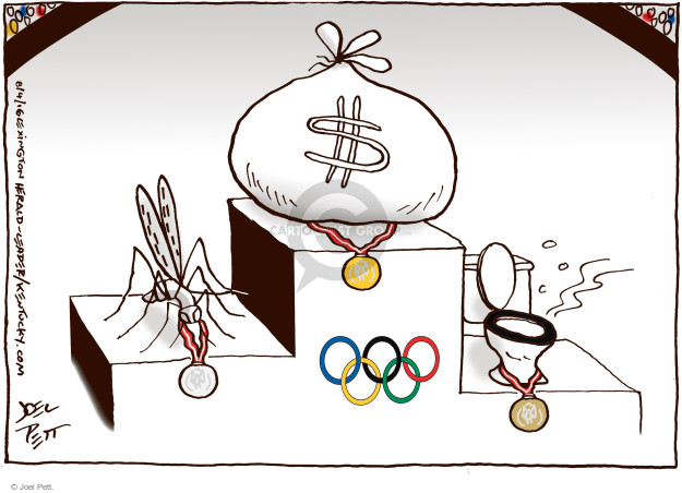 Joel Pett  Joel Pett's Editorial Cartoons 2016-08-04 summer Olympics