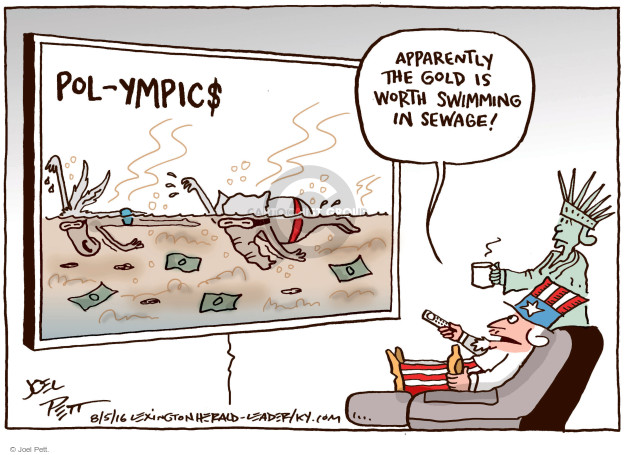 Joel Pett  Joel Pett's Editorial Cartoons 2016-08-05 game