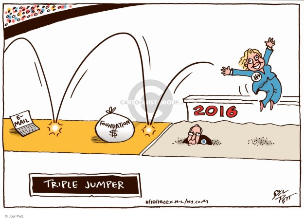Joel Pett  Joel Pett's Editorial Cartoons 2016-08-18 Hillary Clinton and Bernie Sanders