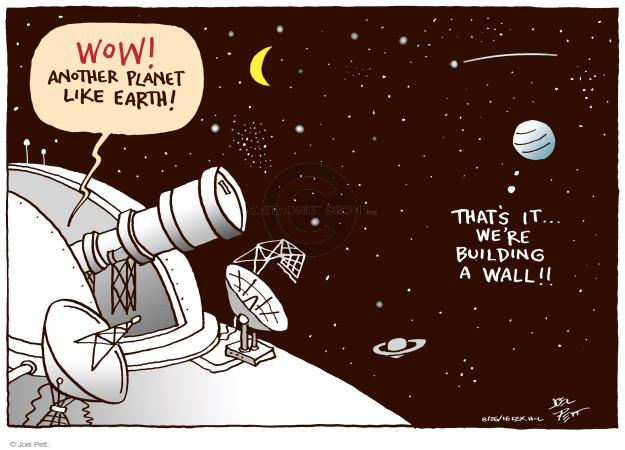 Cartoonist Joel Pett  Joel Pett's Editorial Cartoons 2016-08-26 astronomer