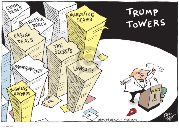 Cartoonist Joel Pett  Joel Pett's Editorial Cartoons 2016-08-31 business tax