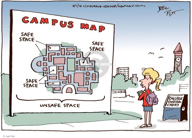 Cartoonist Joel Pett  Joel Pett's Editorial Cartoons 2016-09-01 gun safety