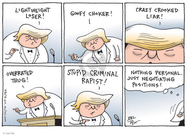 Joel Pett  Joel Pett's Editorial Cartoons 2016-09-06 presidential temperament
