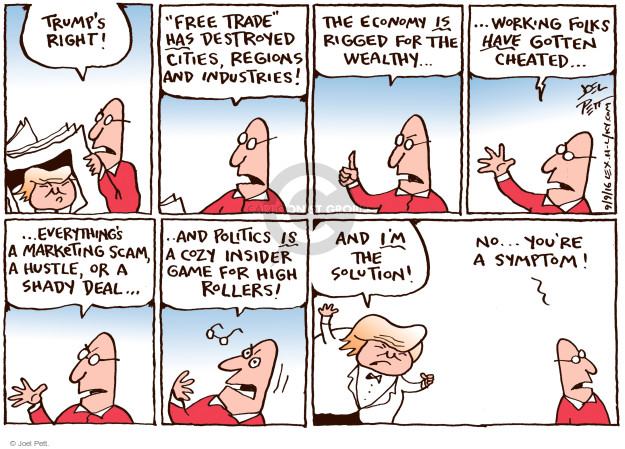 Cartoonist Joel Pett  Joel Pett's Editorial Cartoons 2016-09-09 duplicity