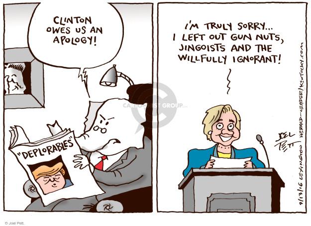 Joel Pett  Joel Pett's Editorial Cartoons 2016-09-13 owe