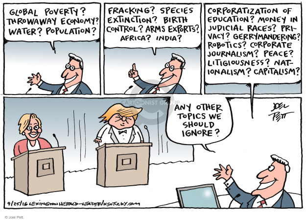 Cartoonist Joel Pett  Joel Pett's Editorial Cartoons 2016-09-25 republican candidate