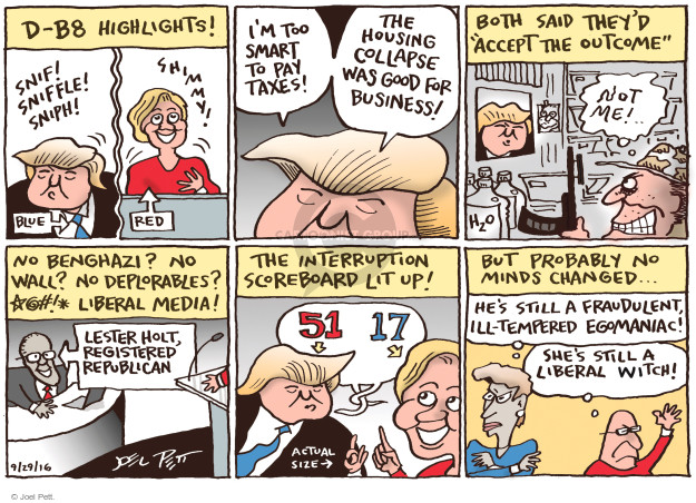 Cartoonist Joel Pett  Joel Pett's Editorial Cartoons 2016-09-28 republican candidate