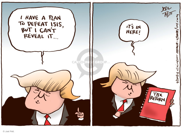 Cartoonist Joel Pett  Joel Pett's Editorial Cartoons 2016-09-30 republican candidate