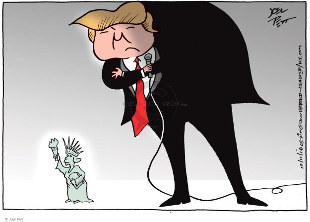 Joel Pett  Joel Pett's Editorial Cartoons 2016-10-11 intimidation