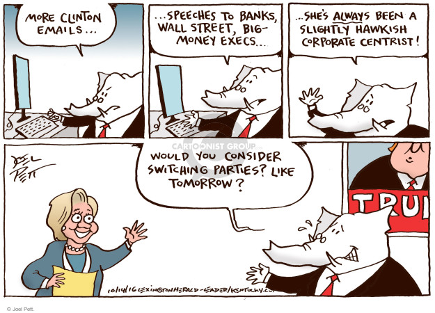 Cartoonist Joel Pett  Joel Pett's Editorial Cartoons 2016-10-14 republican candidate
