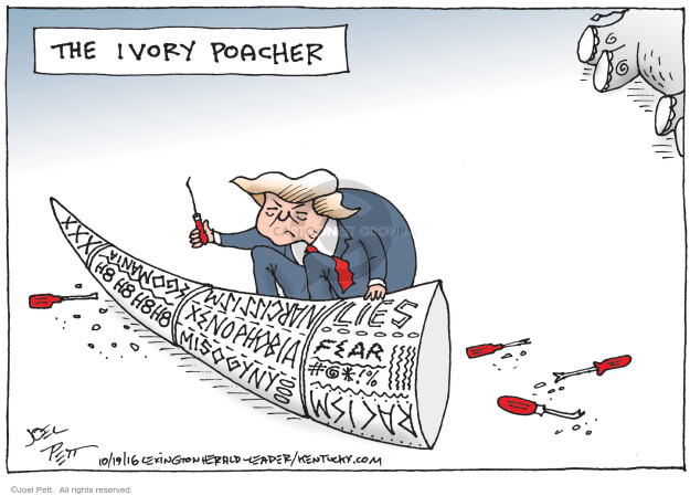 Cartoonist Joel Pett  Joel Pett's Editorial Cartoons 2016-10-19 republican candidate