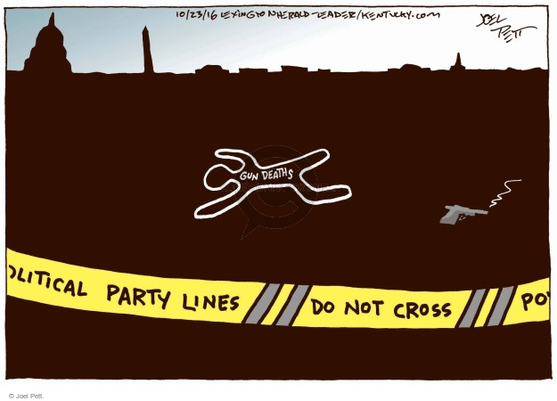 Cartoonist Joel Pett  Joel Pett's Editorial Cartoons 2016-10-23 partisan politics