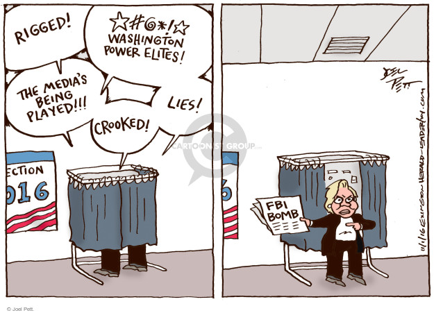 Cartoonist Joel Pett  Joel Pett's Editorial Cartoons 2016-11-01 candidate
