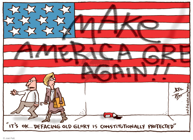 Joel Pett  Joel Pett's Editorial Cartoons 2016-12-01 freedom of speech