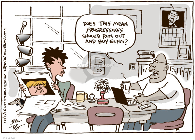 Joel Pett  Joel Pett's Editorial Cartoons 2016-12-02 2016 Election Donald Trump