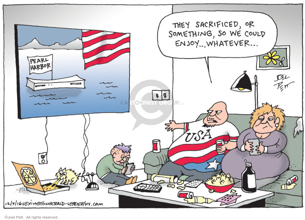 Joel Pett  Joel Pett's Editorial Cartoons 2016-12-07 American History