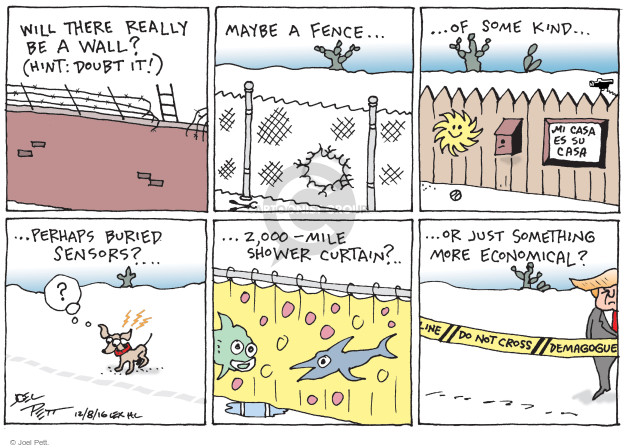 Joel Pett  Joel Pett's Editorial Cartoons 2016-12-08 presidential security