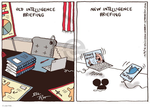 Cartoonist Joel Pett  Joel Pett's Editorial Cartoons 2016-12-09 fake news