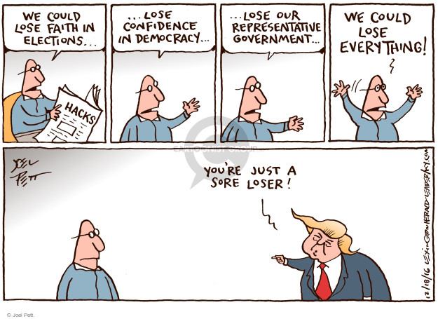 Joel Pett  Joel Pett's Editorial Cartoons 2016-12-18 democracy