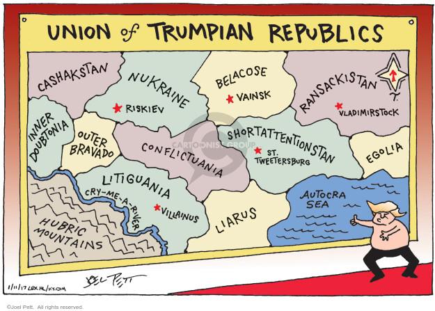 Cartoonist Joel Pett  Joel Pett's Editorial Cartoons 2017-01-11 politics