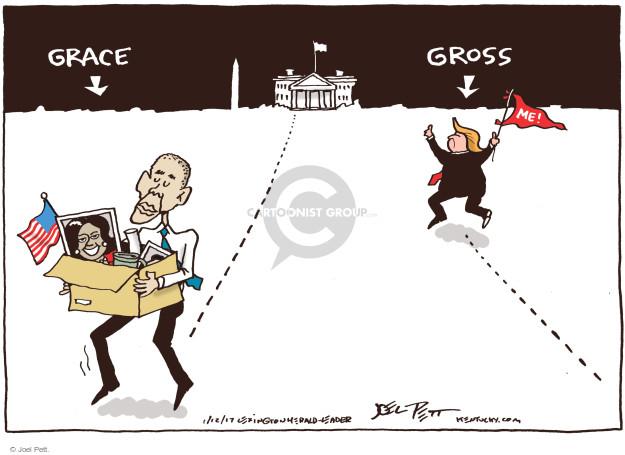 Cartoonist Joel Pett  Joel Pett's Editorial Cartoons 2017-01-12 White House