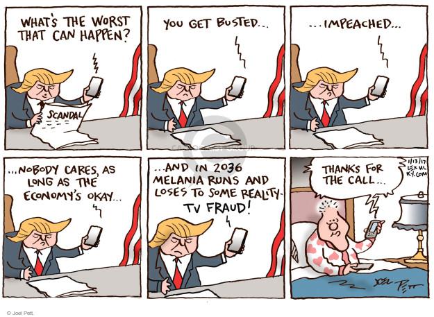 Cartoonist Joel Pett  Joel Pett's Editorial Cartoons 2017-01-13 politics