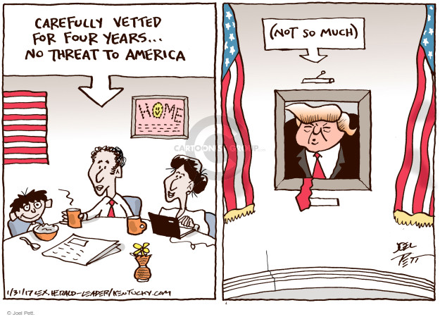 Joel Pett  Joel Pett's Editorial Cartoons 2017-01-31 presidential security